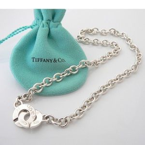 Tiffany & Co 1837 Circle Clasp Toggle Necklace
